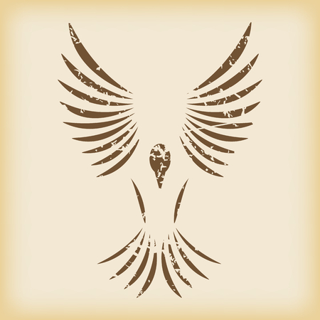 grungy: Grungy flying bird icon