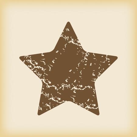 ideogram: Grungy star icon