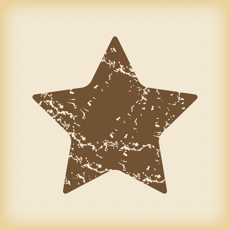 Grungy star icon