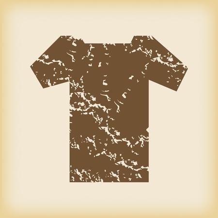 dirty t shirt: Grungy t-shirt icon