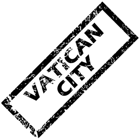 vatican city: VATICAN CITY rubber stamp