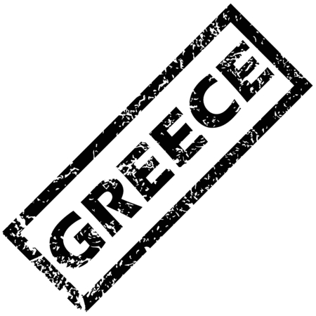 greece stamp: GREECE rubber stamp