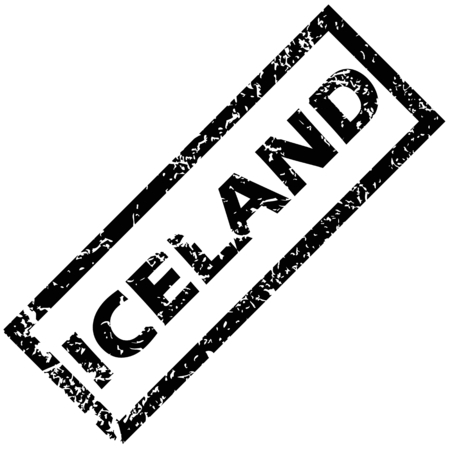 iceland: ICELAND rubber stamp