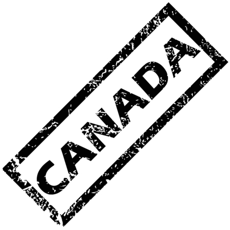 canada stamp: CANADA rubber stamp Illustration