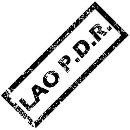 lao: LAOS tampon en caoutchouc