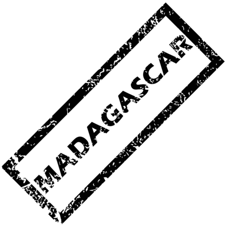 madagascar: MADAGASCAR rubber stamp