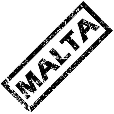 malta: MALTA rubber stamp