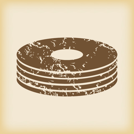 dvd rom: Grungy disc pile icon