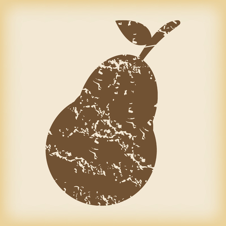 grungy: Grungy pear icon
