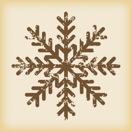 grungy: Grungy snowflake icon Illustration