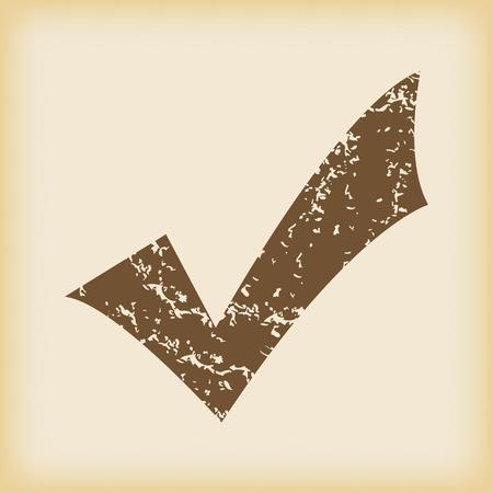 grungy: Grungy tick mark icon