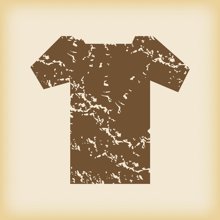 grungy: Grungy t-shirt icon