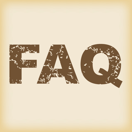 faq icon: Sucio FAQ icono