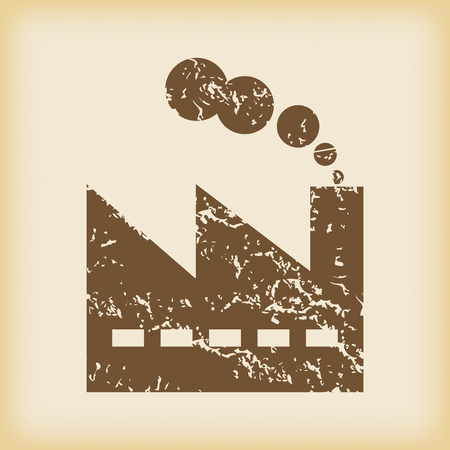 smokestack: Grungy factory icon Illustration