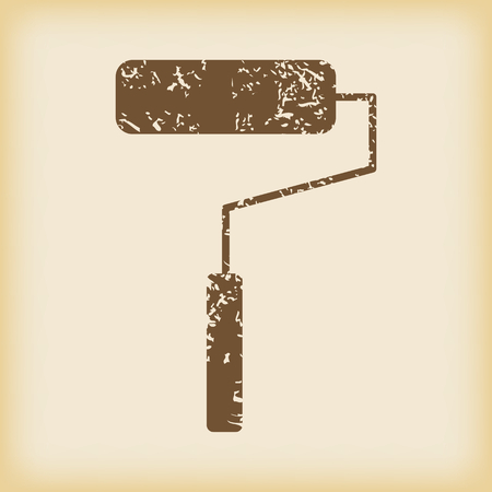 grungy: Grungy paint roller icon