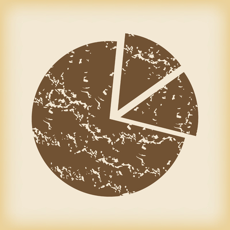grungy: Grungy diagram icon Illustration