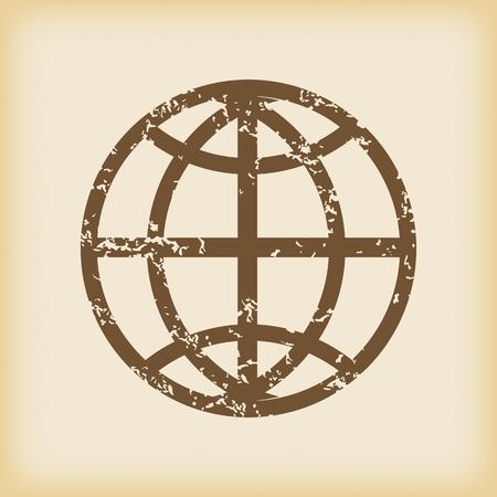 grungy: Grungy globe icon