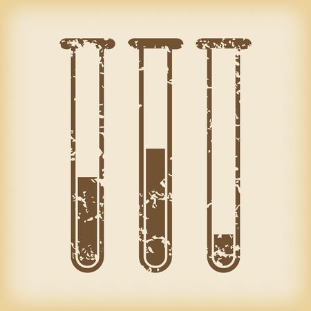 grungy: Grungy test-tubes icon Illustration