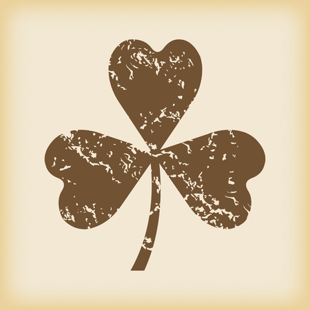 grungy: Grungy clover icon Illustration