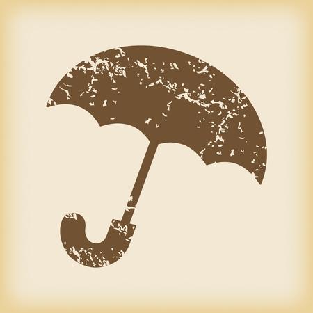cloudburst: Grungy umbrella icon
