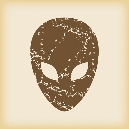 grungy: Grungy alien icon