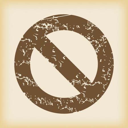 Grungy NO icon Vector