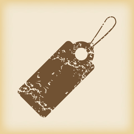 grungy: Grungy string tag icon