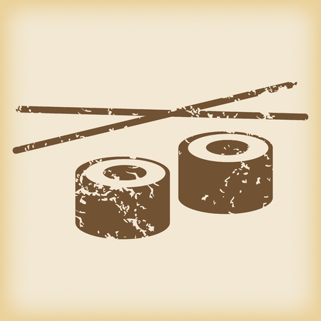 grungy: Grungy sushi icon Illustration
