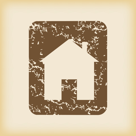 grungy: Grungy house sign icon Illustration