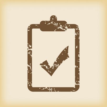 accept icon: Grungy accept icon