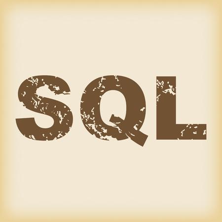 sql: Grungy SQL icon