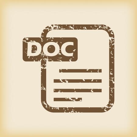 doc: Grungy doc file icon