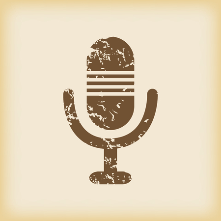 grungy: Grungy microphone icon Illustration