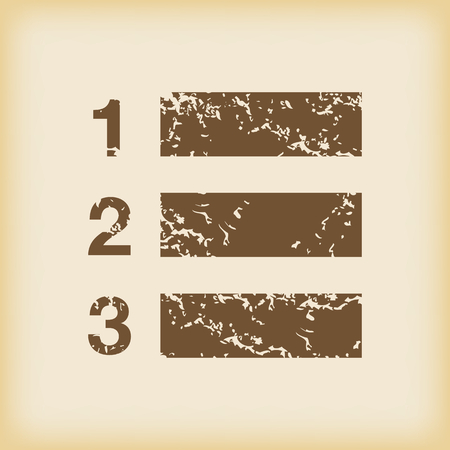 enumerated: Grungy numbered list icon