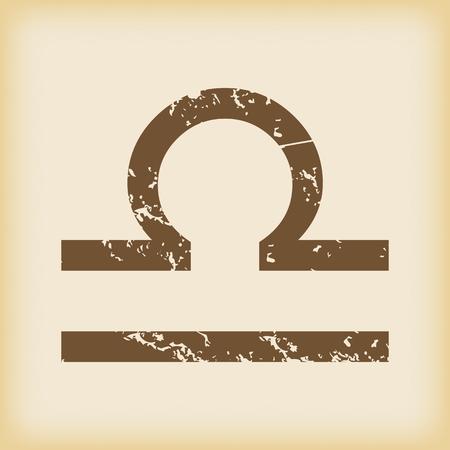 Libra: Grungy libra icon