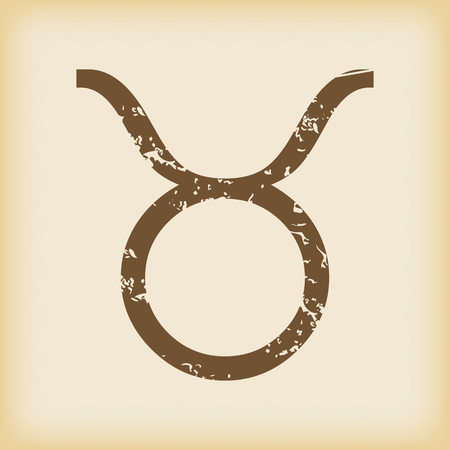 grungy: Grungy taurus icon Illustration