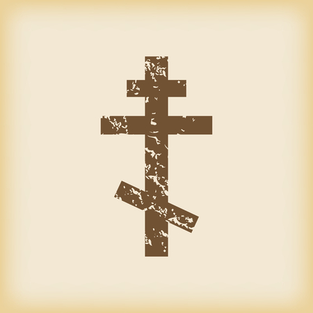 grungy: Grungy orthodox cross icon