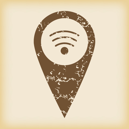 grungy: Grungy Wi-Fi pointer icon