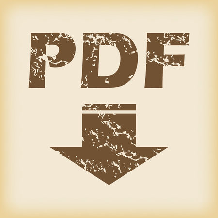 tearing down: Grungy pdf download icon