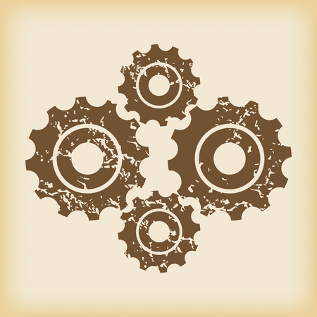 cogs: Grungy cogs icon