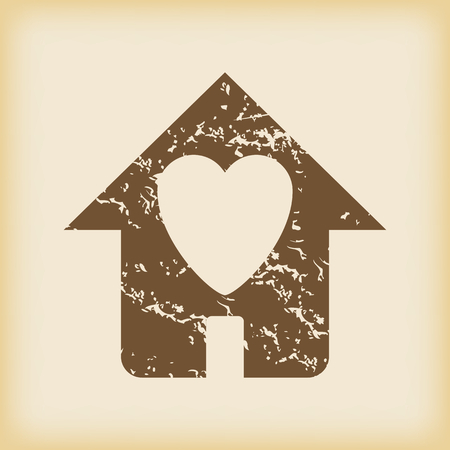beloved: Grungy beloved house icon