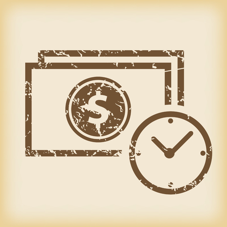 grungy: Grungy financial time icon