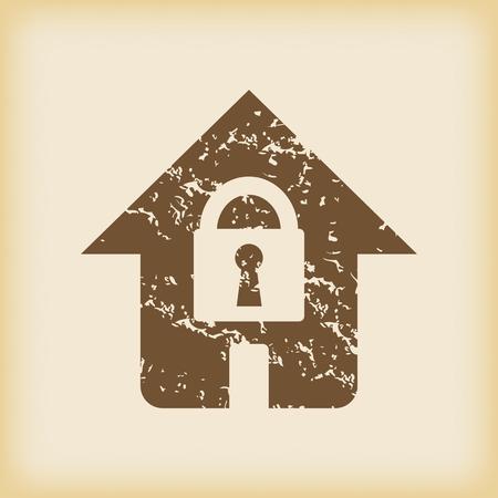 locked: Grungy locked house icon