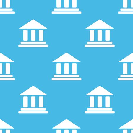 gable: Blue classical building pattern