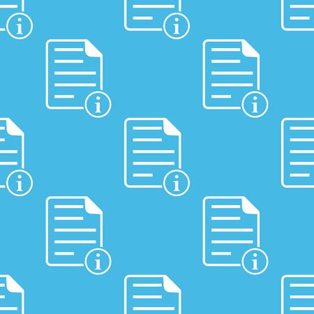 Blue information document pattern Ilustração