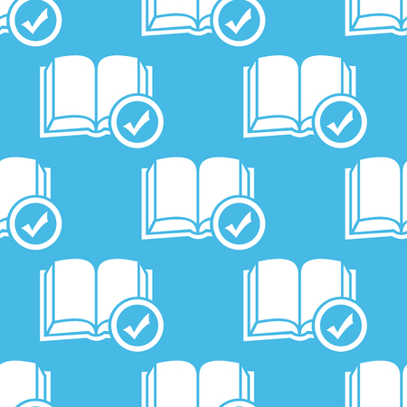 selected: Blue selected book pattern Illustration