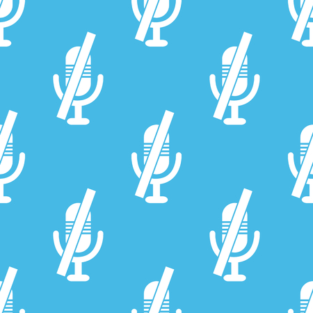 muted: Blue muted microphone pattern Illustration