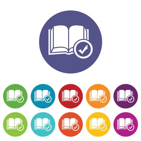 Selected book icon set Vector