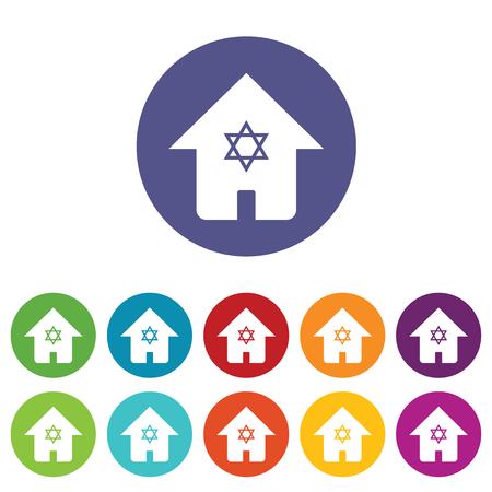 judaic: Judaic house icon set