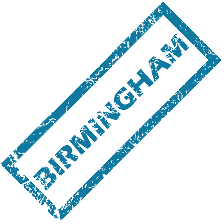 birmingham: Birmingham rubber stamp Illustration